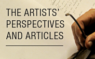 The artists' perspectives and articles